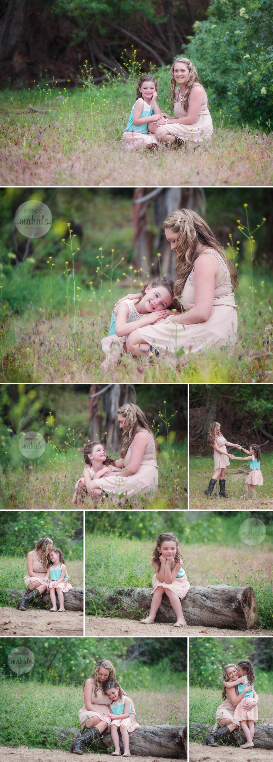 mom and me portraits by Mango Mahalo Photography