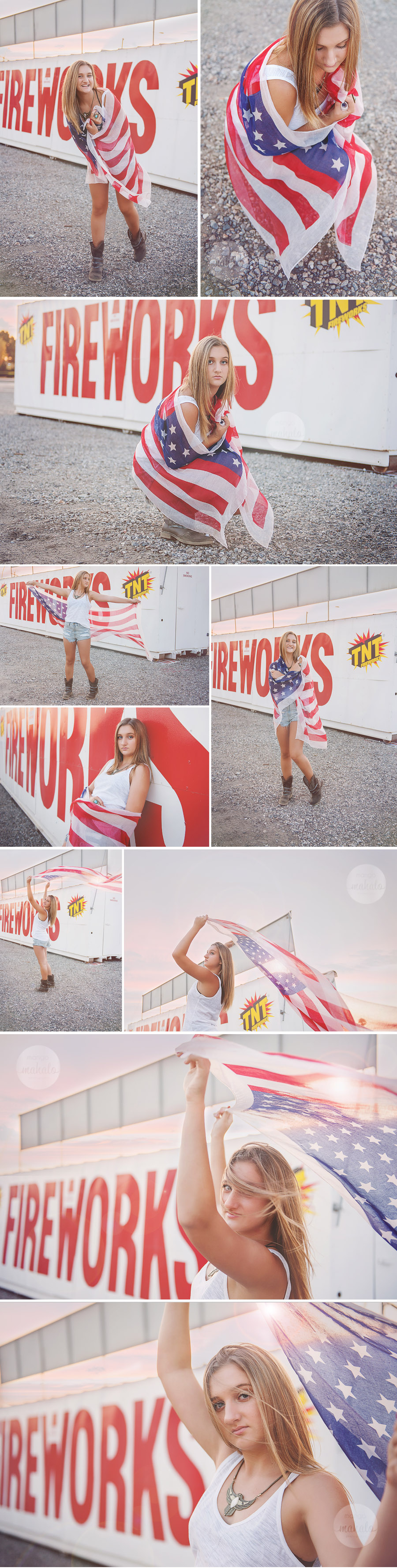 All American Teen Girl American Flag Photography by Mango Mahalo Photography by Michelle Anderson