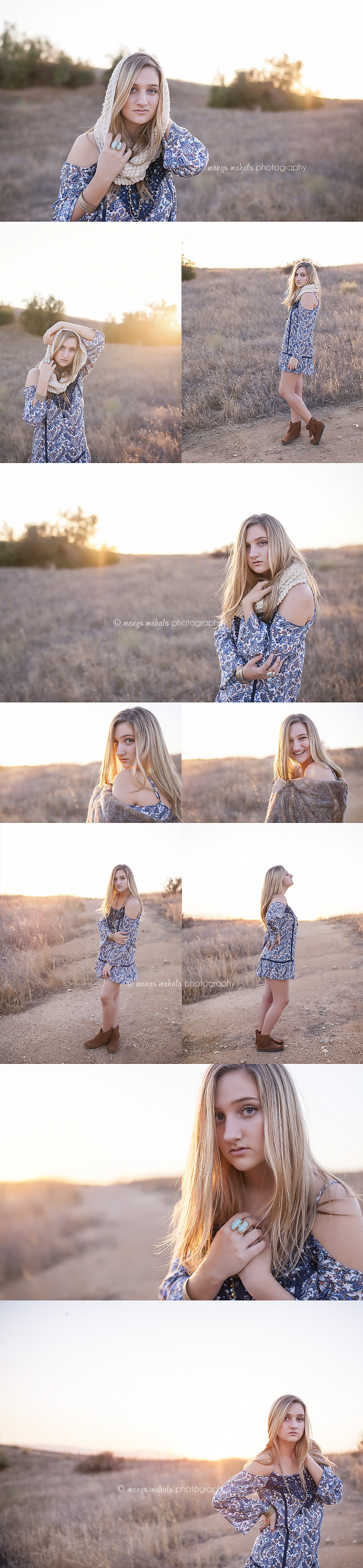 Southern California Teen Girl Sunset Field by Mango Mahalo Photography mangomahalo.com
